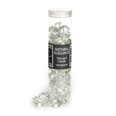 Glass Pebbles - Glass Diamond Mini Clear Lustre (14mm) 700gm Jar