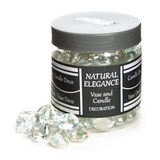 Glass Pebbles - Glass Diamond Large Clear Lustre (21mm) 1.2kg Jar