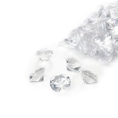Acrylic Rocks & Scatters - Acrylic Diamond Scatters Small Clear (18mm) 400g Bag
