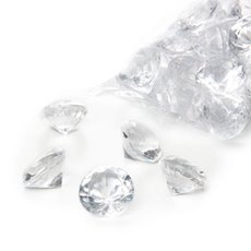 Acrylic Diamond Scatters Large Clear (29mm) 400g Bag