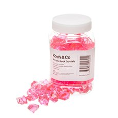 Acrylic Rock Crystal Scatters Pink (15x25mm) 400g Jar