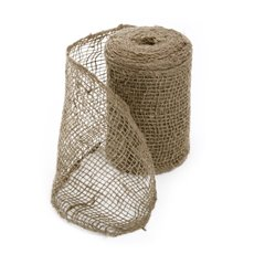 Jute Ribbons - Burlap Ribbon Natural (15cmx9.1m)