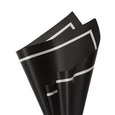 Regal Pearl Wrap Pattern - Cello Regal Pro Border 65mic 100Pk Black Wht (50x70cm)