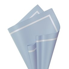 Regal Pearl Wrap Pattern - Cello Regal Pro Border 65mic 100Pk French Blue Wht (50x70cm)