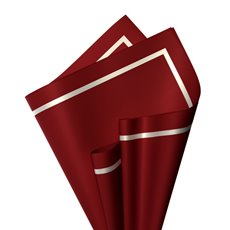 Regal Pearl Wrap Pattern - Cello Regal Pro Silhouette 65mic Blood Red (50x70cm)Pk 100