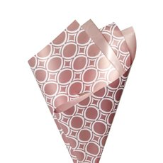 Regal Pearl Wrap Pattern - Cello Regal Pro Medina Oval 65mic 100 Pk Rose Gold (50x70cm)