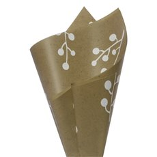 Regal Pearl Wrap Pattern - Cello Regal Pro Branch 65mic Kraft Look (50x70cm) Pack 100