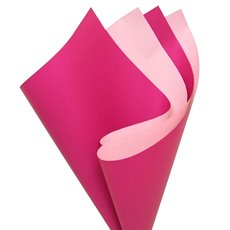 Regal Pearl Wrap Duo Contrast - Cello Regal Pro DUO 65mic Hot Pink Baby Pink (50x70cm)Pk 100