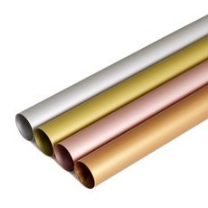 Regal Pearl Wrap Solid - Cello Regal Pro 65mic Metallic 4 Cols (50x70cm) Pack 100