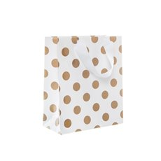 Paper Bag Bold Dots Pack 5 Small Copper (180Wx85Gx215mmH)
