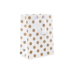 Paper Bag Bold Dots Pack 5 Medium Copper (205Wx110Gx275mmH)