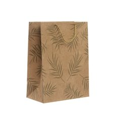 Kraft Paper Carry Bags - Kraft Paper Bag Large Leaf Kraft Gold(240x120x355mmH) Pack 5