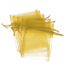 Organza Bags - Organza Bag Small Gold (7.5x10cmH) Pack 10