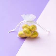 Organza Bag Small Ivory (7.5x10cmH) Pack 10