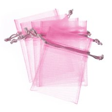 Organza Bags - Organza Bag Medium Baby Pink (12.5x17cmH) Pack 10