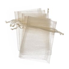 Organza Bag Medium 10 Pack Ivory (12.5x17cmH)