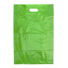 Gloss Plastic Bag Die Cut Handle Large Lime (520x355x75mmD)