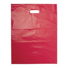 Plastic Bag Economy Die Cut Handle Red 25 Pack (415x530mmH)