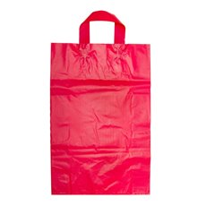 Plastic Bag Loop Handle Red 450Hx310Wx110mmG Large
