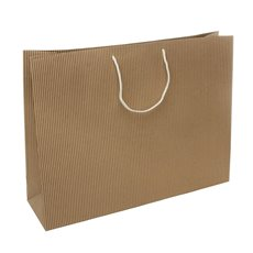 Kraft Paper Striped Bag Large Beige (350mmHx450x125)