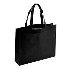 Reusable Shopping Bags - Eco Bag Nonwoven Boutique Black (420Wx120Gx350mmH)
