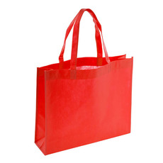 Reusable Shopping Bags - Eco Bag Nonwoven Boutique Red (420Wx120Gx350mmH)