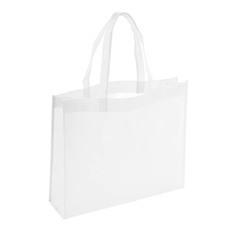 Reusable Shopping Bags - Eco Bag Nonwoven Boutique White (420Wx120Gx350mmH)