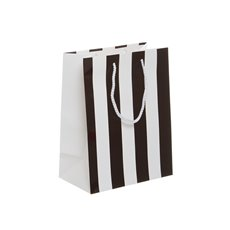 Premium Stripes Paper Bag 10 Pack Black (260mmHx200x115)