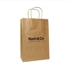Koch Promo Bag Brown Kraft (240Wx120Gx355mmH)