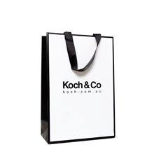Koch Promo Bag Laminate Matte White (240Wx120Gx355mmH)