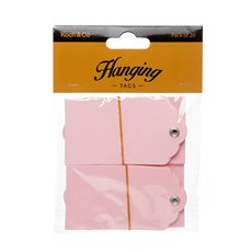 Gift Tags & Labels - Hanging Gift Tags 5x9cmH Pack 20 Baby Pink