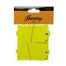 Gift Tags & Labels - Hanging Gift Tags 5x9cmH Pack 20 Lime