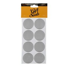 Gift Tags & Labels - Gift Seal Round Stitch 4.5cmD Gloss Silver 40pcs