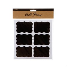 Gift Tags & Labels - Chalkboard Text Box Labels (8x6cm) Pack 24
