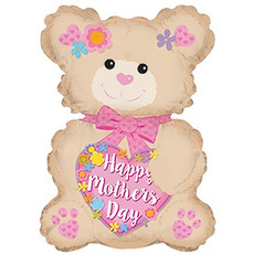 Foil Balloons - Foil Balloon Happy Mothers Day Bear (7.75Wx12H)