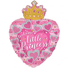 Foil Balloons - Foil Balloon 19 (48.26cm) Heart Welcome Little Princess