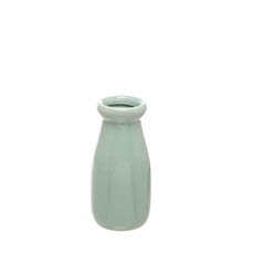 Ceramic Bottles - Ceramic Milk Bottle Blue (6.5Dx14cmH)