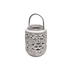 Cement Lantern Round Grey (19Dx26cmH)