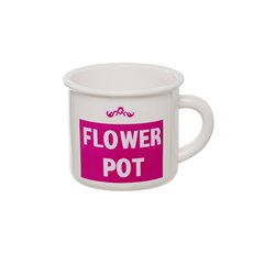 Ceramic Mug Flower Pot Hot Pink (15.5x12.5x10.5cmH)