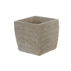Cement Wrington Cube Vase Grey (13.5x13cmH)