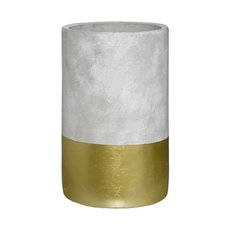 Cement Boston Cylinder Vase Gold (15mDx25cmH)