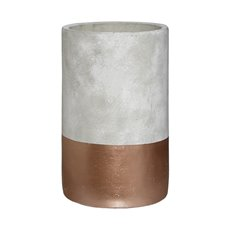 Cement Boston Cylinder Vase Rose Gold (15mDx25cmH)