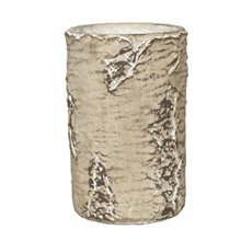 Trend Ceramic Pots - Ceramic Cylinder Vase Birch Look Brown (15.5x24cmH)