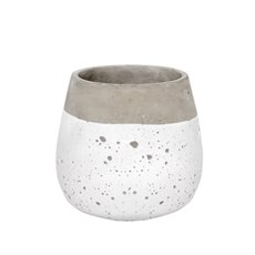 Cement Pots - Nottingham Cement Round Pot White (16Dx16cmH)