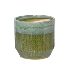 Trend Ceramic Pots - Ceramic Nelson Pot Medium Moss (17Dx16cmH)