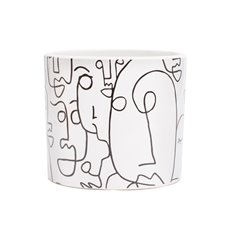 Trend Ceramic Pots - Ceramic Picasso Cylinder White (13.5Dx12cmH)