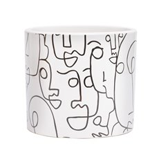 Trend Ceramic Pots - Ceramic Picasso Cylinder White (15Dx14cmH)