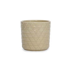 Trend Ceramic Pots - Ceramic Epping Pot Chai Brown (14.5Dx14.5cmH)