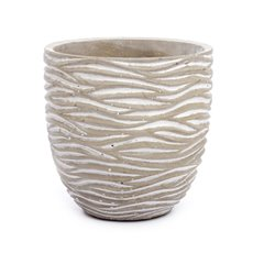 Cement Pots - Cement Bambi Textured Pot Grey (15Dx15cmH)