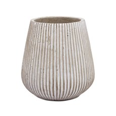 Cement Pots - Cement Amelia Tapered Pot Grey (14Dx14.5cmH)